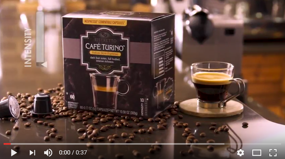 Screenshot of a Cafe Turino video