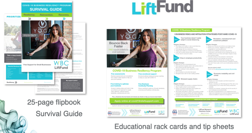 Examples of work completed for LiftFund